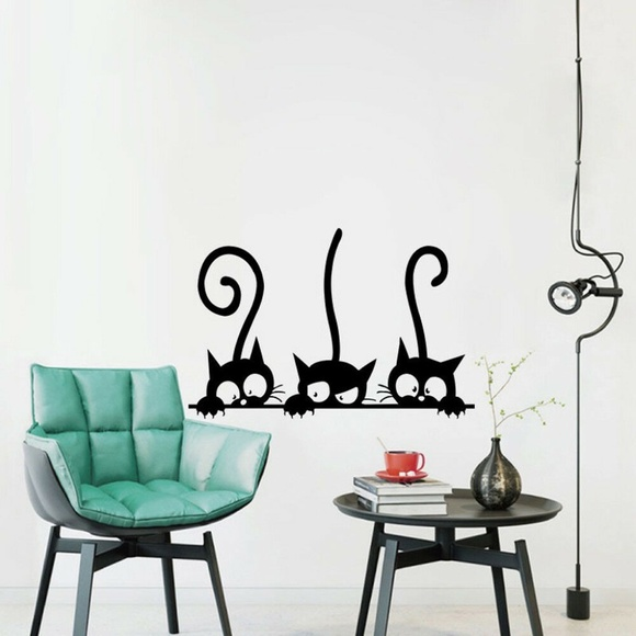 Other - Three Black Cats Wall Art Decal